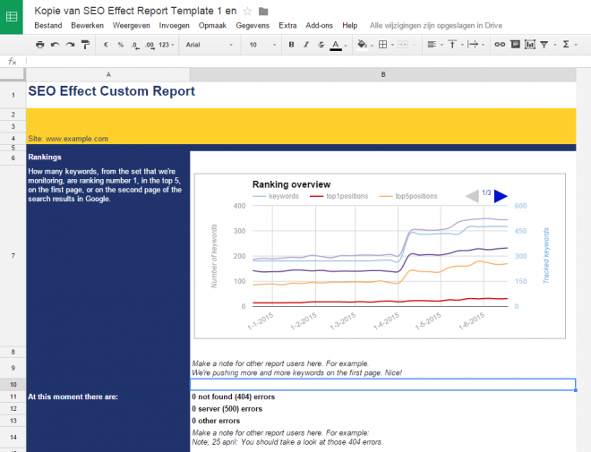 google spreadsheet template seoeffect