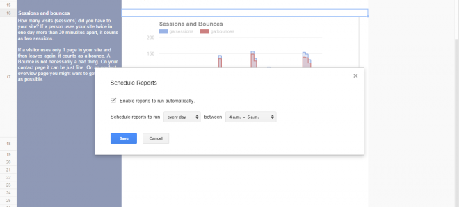 white label reports schedule