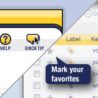 Quick tips explain the main task in an SEO tool