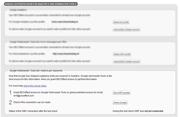 WMT permission 2: acces to keywords an click data
