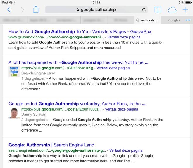 google stopt met authorship
