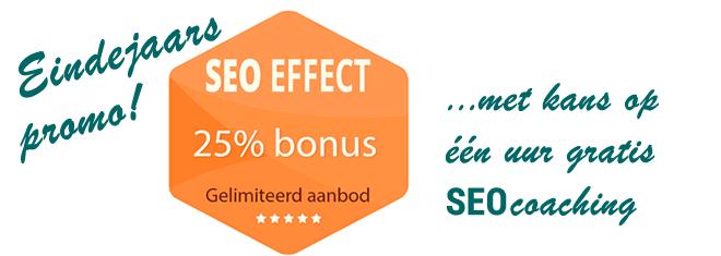 SEO Effect Eindejaar promo