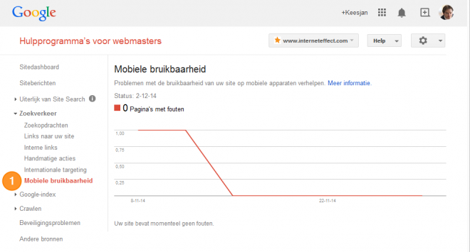 WMT mobile bruikbaarheid website tool