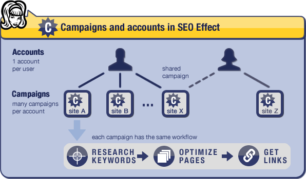 accounts campaigns SEO Effect