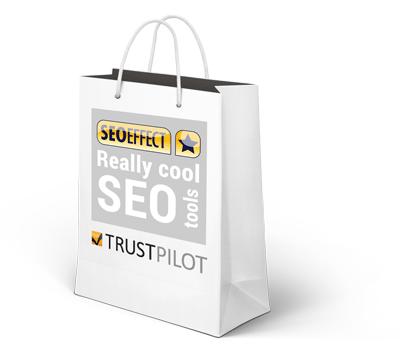 Goody bag Trustpilot en SEO Effect tool