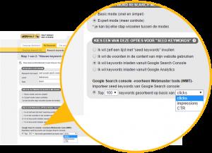 SEO Effect - zoekwoord onderzoek. Zaai molgeijkheide op basis van tp 100 Google search console data