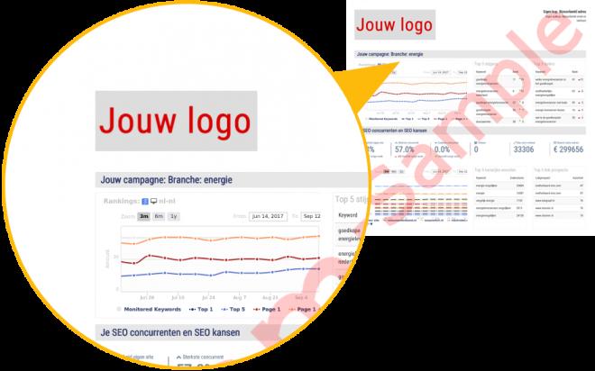 Voorbeeld SEO whitelable pdf report