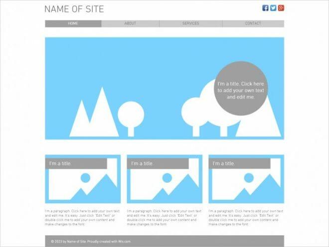 empty website