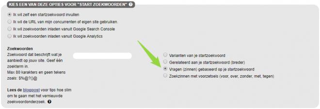 SEO Effect keyword tool - voor vinden vragen